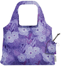 Vita Abstract Reusable Shopping Bag Purple Blooms Bliss
