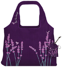 Vita Abstract Reusable Shopping Bag Inspire Be the Change Purple