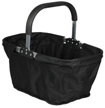 Fabric Collapsible Market Basket Black