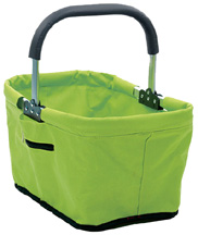 Fabric Collapsible Market Basket Green