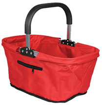 Fabric Collapsible Market Basket Red
