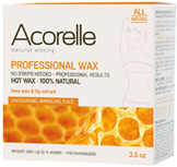 Bees Wax & Lily Extract Professional Wax Underarms, Bikiniline, Face/Jar 3.5 oz. Acorelle