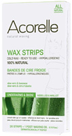Aloe Vera & Beeswax Wax Strips Underarms and Bikini 20 ct. Acorelle