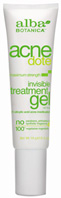 ACNEDOTE Invisible Treatment Gel 0.5 oz. Alba Botanica