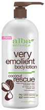 Very Emollient Body Lotion Coconut Rescue 32 oz. Alba Botanica