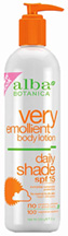 Very Emollient Body Lotion Daily Shade SPF 15 12 oz. Alba Botanica