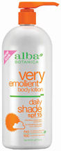 Very Emollient Body Lotion Daily Shade SPF15 32 oz. Alba Botanica
