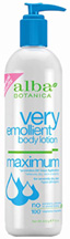 Very Emollient Body Lotion Maximum 12 oz. Alba Botanica