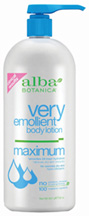 Very Emollient Body Lotion Maximum 32 oz. Alba Botanica