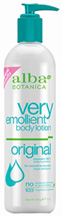 Very Emollient Body Lotion Original 12 oz. Alba Botanica