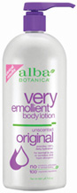 Very Emollient Body Lotion Unscented Original 32 oz. Alba Botanica
