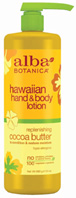 Cocoa Butter Handy/Body Lotion 24 oz. Alba Botanica