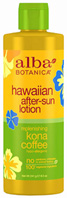Replenishing Kona Coffee After-Sun Lotion 8.5 oz. Alba Botanica