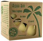 Unscented Tea Light Cream  Aloha Bay