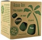 Unscented Tea Light Green Aloha Bay