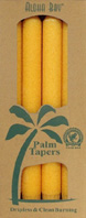 Unscented Palm Taper Honey Gold 9 inch 4 Pack Aloha Bay