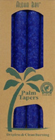 Unscented Palm Taper Royal Blue 9 inch 4 Pack Aloha Bay