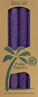 Unscented Palm Taper Violet 9 inch 4 Pack Aloha Bay