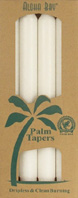 Unscented Palm Taper Honey White 9 inch 4 Pack Aloha Bay