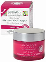 1000 Roses Heavenly Night Cream 1.7 oz. Andalou Naturals