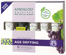 Get Started Age Defying Kit, 5 pc. Andalou Naturals