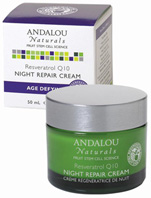 Resveratrol Q10 Night Repair Cream 1.7 oz. Andalou Naturals