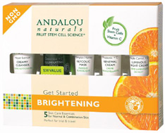 Get Started Brightening Kit, 5 pc. Andalou Naturals