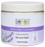 Aromatherapy Mineral Bath Relaxing Lavender 16 oz. Aura Cacia