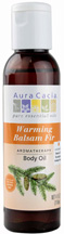 Body Oil Warming Balsam Fir 4 oz. Aura Cacia
