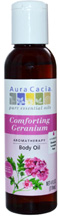 Body Oil Comforting Geranium 4 oz. Aura Cacia
