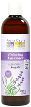 Body Oil Relaxing Lavender 8 oz. Aura Cacia