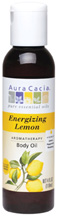 Body Oil Energizing Lemon 4 oz. Aura Cacia