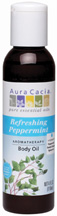 Body Oil Refreshing Peppermint 4 oz. Aura Cacia