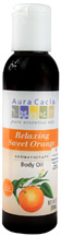Body Oil Relaxing Sweet Orange 4 oz. Aura Cacia