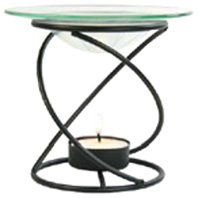Spiral Candle Lamp Black Aura Cacia