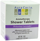 Aromatherapy Shower Tablets Relaxing Lavender 3 ct. Aura Cacia