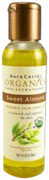 Skin Care Oil Organic Sweet Almond 4 oz. Aura Cacia