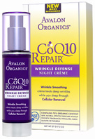 CoQ10 Repair Wrinkle Defense Night Creme 1.75 oz. Avalon Organics