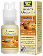 Vitamin C Vitality Facial Serum 1 oz. Avalon Organics