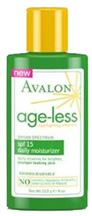 Age-less Daily Moisturizer SPF15 4 oz. Avalon Organic Botanicals