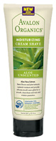 Cream Shave Aloe Vera Unscented 8 oz. Avalon Organic Botanicals