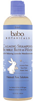 3 in 1 Calming Shampoo, Bubble Bath & Wash Lavender Meadowsweet 13.5 oz. Babo Botanicals