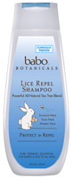 Lice Repel Shampoo Rosemary Tea Tree 8 oz. Babo Botanicals