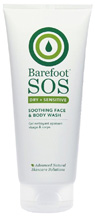 Soothing Face and Body Wash Dry & Sensitive 6.6 oz. Barefoot SOS