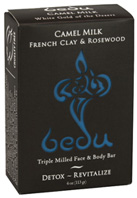 Camel Milk Face & Body Soap French Clay & Rosewood 4 oz. Bedu Naturals