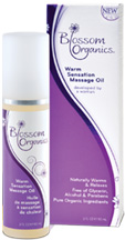 Warm Sensation Massage Oil 3 oz. Blossom Organics