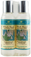 Witch Hazel Face & Body Toner Aloe Dual Pack, 2.25 oz. Bretanna
