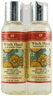 Witch Hazel Face & Body Toner Citrus, Sage & Aloe Dual Pack, 2.25 oz. Bretanna