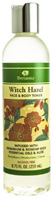 Witch Hazel Face & Body Toner Geranium Rose Hip Seed & Aloe 8.75 oz.