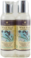 Witch Hazel Face & Body Toner Lavender, Chamomile & Aloe Dual Pack, 2.25 oz. Bretanna
